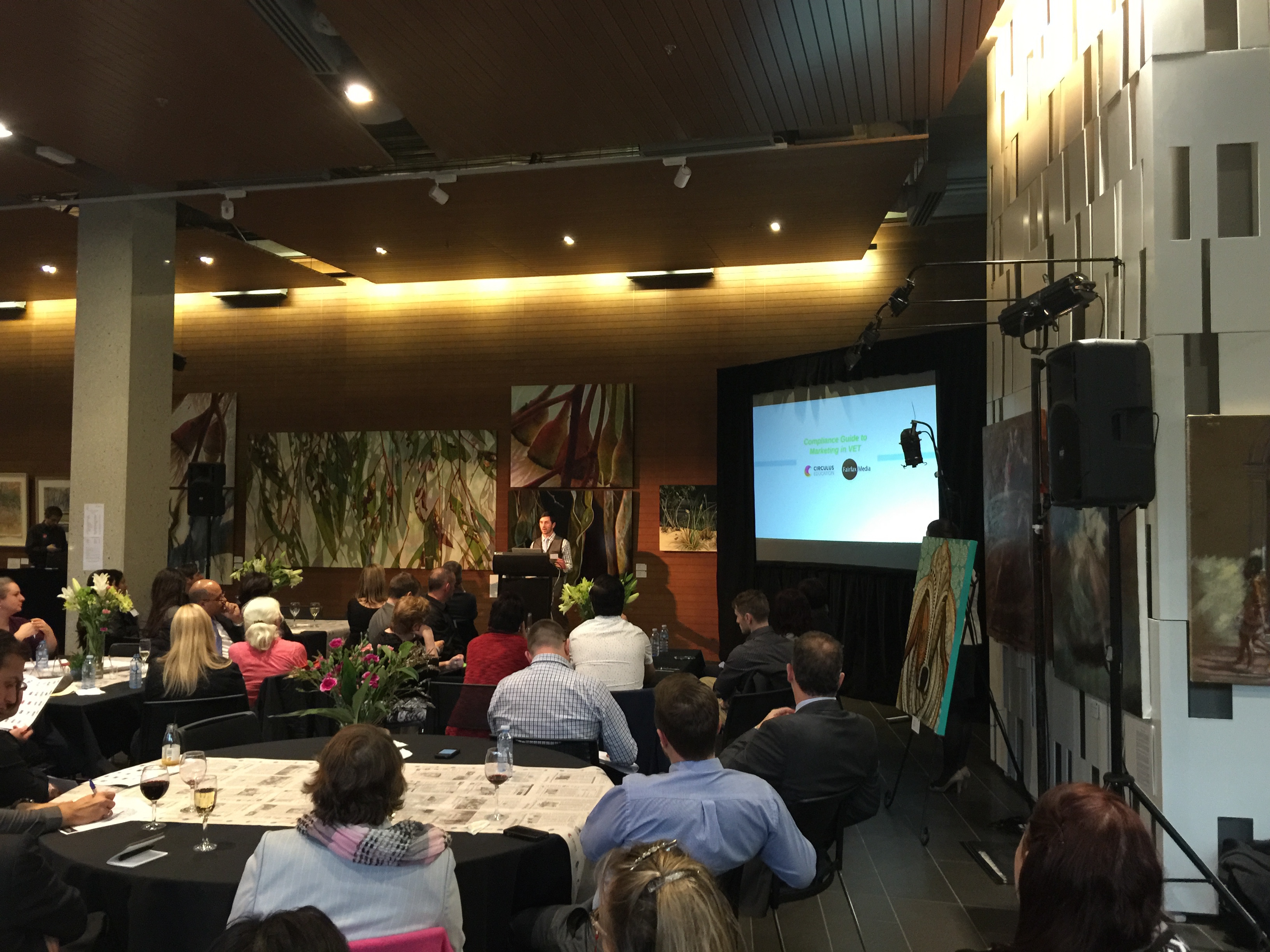 Audit Express Director Matthew Dale presents at Circulus and Fairfax Media VET Networking Event.