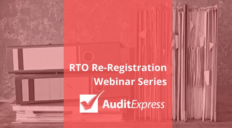RTO re-registration webinar series