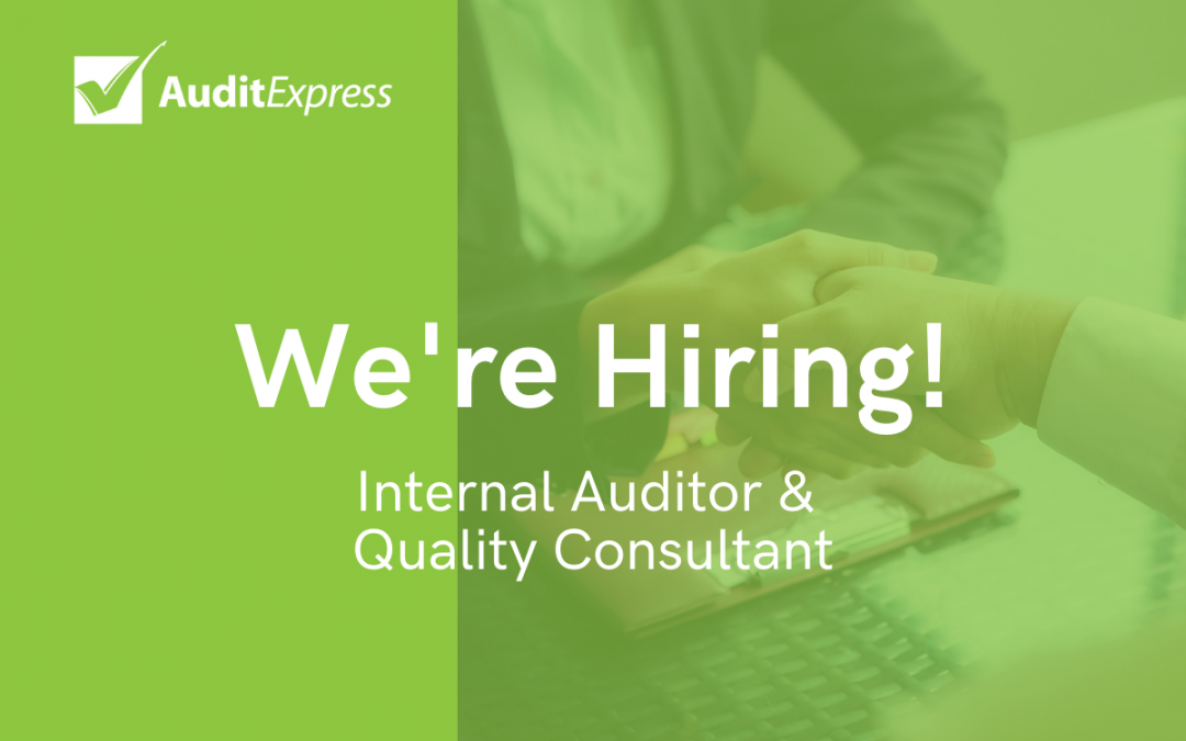 Internal Auditor & Quality Consultant Role
