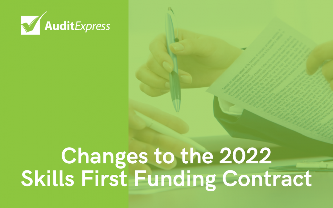 Changes to the 2022 Skills First Funding Contract: What you need to know